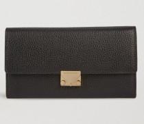 Portemonnaie im Querformat aus Narbenleder