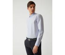 Slim Fit Hemd Mit Mikrostreifen