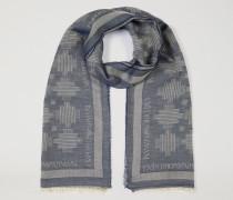 Schal Aus Baumwolle Und Modal Mit Abstraktem Motiv