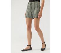 Shorts aus Gestreiftem Stoff mit Lurexgarn