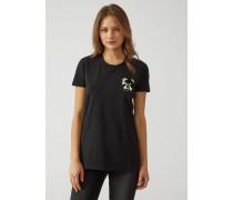 T-shirt Aus Jersey/baumwollstretch