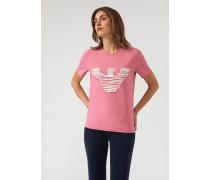 T-shirt aus Jersey mit Logo-spiralstickerei