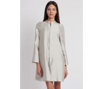 Leichter Mantel aus Radzimir in Baumwolle und Seide mit Reißverschluss