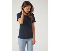 Rundhals-t-shirt aus Reinem Baumwolljersey