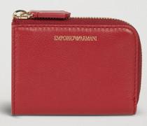 Mini-portemonnaie mit Reißverschluss aus Leder