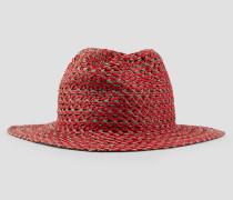 Geflochtener Hut mit Breiter Krempe und Dreiecksdetail