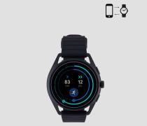 Emporio Armani Touchscreen-smartwatch mit Gummiarmband