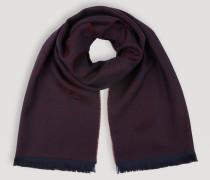 Schal aus Schurwolle mit Logostickerei