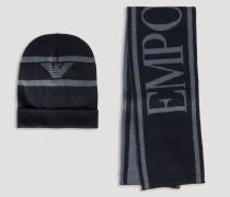 Set aus Beanie und Schal mit Maxi-logo