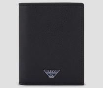 Klapp-portemonnaie aus Leder