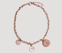 Halskette Aus Rostfreiem Edelstahl Mit Logoanhängern