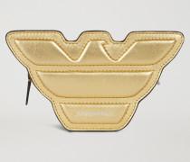 Mini-bag in Adlerform aus Laminiertem Leder mit Tragriemen