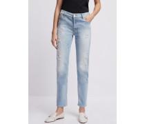 Jeans J60 in Straight Fit aus Stone Washed-denim mit Rissen