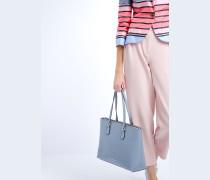 Shopper-tasche mit Mini-hirschlederprägung, Griffen und Reißverschluss
