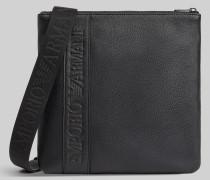 Crossbody Bag aus Kunstleder in Granatrot