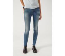 Super Skinny Jeans J28 Mit Stonewash-behandlung