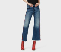 Jeans J33, Wide Cropped, Mit Logo-band