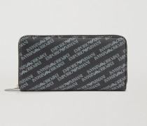 Portemonnaie Aus Kunstleder Mit Durchgehendem Logo
