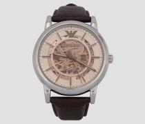 Uhr mit Mechanischem Uhrwerk und Transparentes Zifferblatt