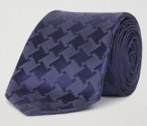 Krawatte aus Reiner Seide mit Hahnentrittmuster