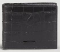 Bifold-portemonnaie aus Leder mit Kroko-prägung