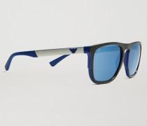 Sonnenbrille in Rechteckiger Form aus Gummi und Aluminium