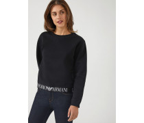Sweatshirt mit Logo-elastikband Am Saum