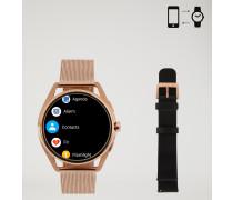 Smartwatch mit Touchscreen, aus Edelstahl