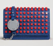 Crossbody Bag Aus Leder Mit Kroko-prägung Und Nieten