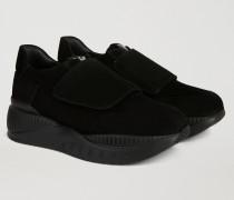 Sneakers Aus Wildleder Mit Hoher Sohle