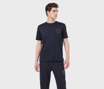 T-shirt Aus Interlockjersey Mit Stern Und Adler Als Stickerei