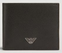 Bifold-portemonnaie aus Leder mit Palmellato-prägung