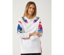 Maxi-sweatshirt Mit Kontrast-prints