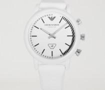 Smartwatch Hybrid mit Emoticons auf dem Zifferblatt