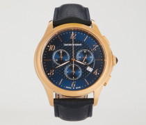 Chronograph Swiss Made In Rotgold Und Leder 8701