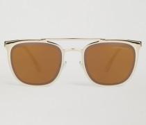 Sonnenbrille aus Metall mit Doppelsteg