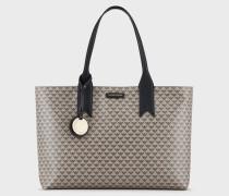 Shopper-tasche Im Monogramm-design