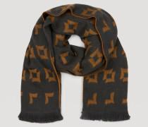 Schal aus Reiner Wolle mit Geometrischem Jacquardmuster