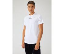 T-shirt Respect Me aus Baumwolljersey