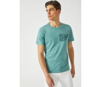 T-shirt aus Jersey mit Logo-blumenprint