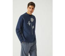 Pullover Aus Jacquard Mit Reissverschluss