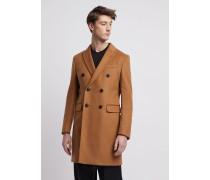 Mantel mit Reverskragen aus Schurwolle und Kaschmir