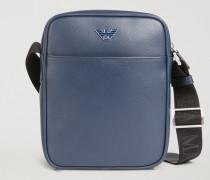 Crossbody Bag aus Leder mit Palmellato-prägung