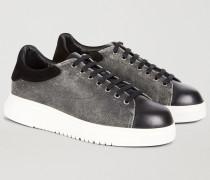Sneakers Mit Einsätzen Aus Wildleder