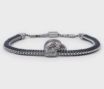Armband Aus Silberfarbenem Edelstahl Mit Adler