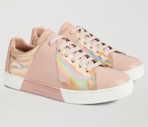 Sneaker aus Leder mit Schimmerndem Print