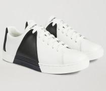 Sneaker aus Leder mit Optischem Print