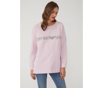 Sweatshirt Aus Baumwolle Mit Logo