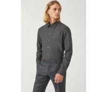 Hemd Modern Fit aus Bedruckter Baumwolle mit Kleinem Kragen