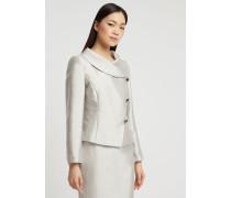 Jacke aus Radzimir in Baumwolle und Seide mit Diagonaler Knopfleiste